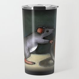 Mouse with Marble, Whimsical Art, Cute Critter Travel Mug