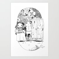 couple Art Prints featuring Couple by Mono Ahn