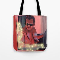 taxi driver Tote Bags featuring Taxi driver by AnnArk