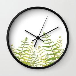 Ferns and Fiddleheads Wall Clock
