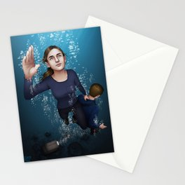 Fitzsimmons - Ninety Feet on One Breath Stationery Cards