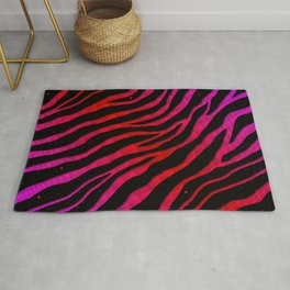 Ripped SpaceTime Stripes - Pink/Red Rug