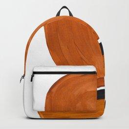 Mid Century Vintage 70's Design Abstract Minimalist Colorful Pop Art Backpack