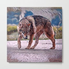 Wolf Pack Leader Metal Print