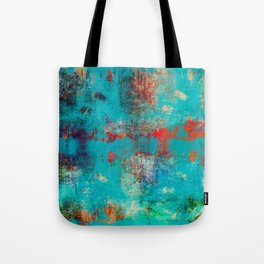 Aztec Turquoise Stone Abstract Texture Design Art Tote Bag