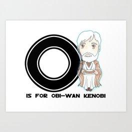 O is for Obi-Wan Art Print