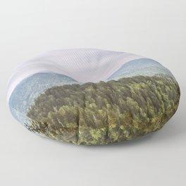 Blue Smoke Mountains Floor Pillow