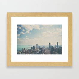 Looking down on the city ... Framed Art Print