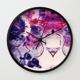 Wine & Flowers Photographic Pattern #2 Wall Clock