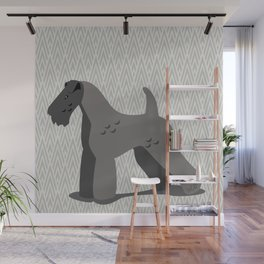 Roaring Kerry Blue Terrier by IxCO Wall Mural