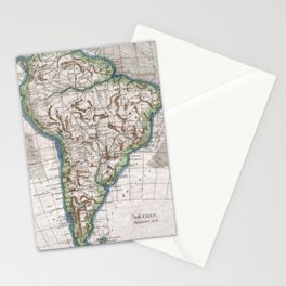 Vintage Map of South America (1780) Stationery Cards