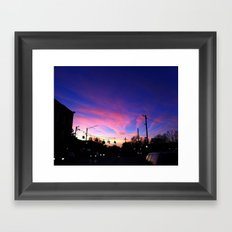 Pink Sky on Main Framed Art Print
