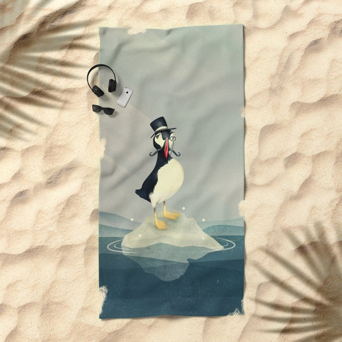 Lord Puffin Beach Towel