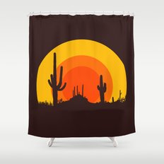 mucho calor Shower Curtain
