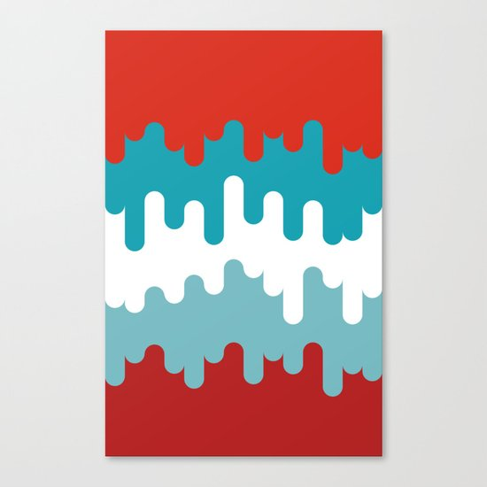 Drips and Drops - Smurf Canvas Print