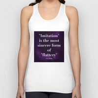 "oscar wilde Tank Tops featuring ""Imitation is the most sincere form of flattery."" - Oscar Wilde by Retro Designs"