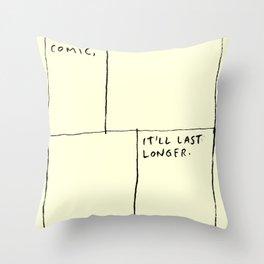 Make A Comic Throw Pillow