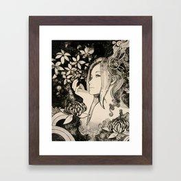 Purity of Chrysanthemum Framed Art Print
