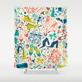 Heels and Handbags Shower Curtain