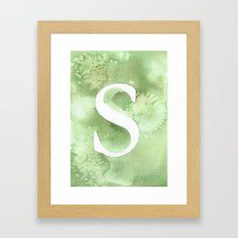 s watercolor Framed Art Print