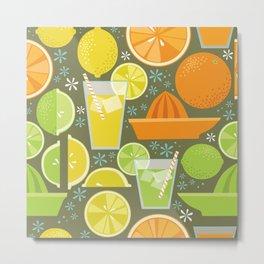 Drink Your Juice Repeat Metal Print