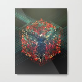 Encrypted Core Metal Print
