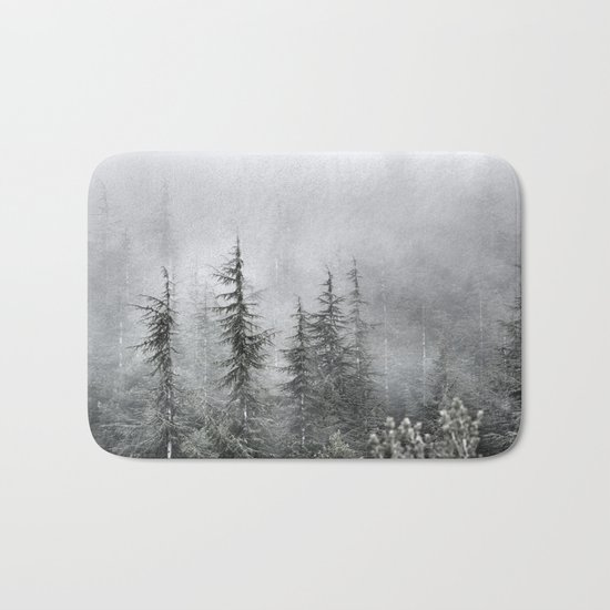 """""""Into The Foggy Woods"""" Wander. Yesterday at the mountains Bath Mat"""