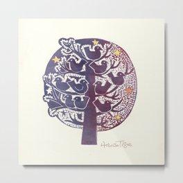 Untitled (tree), etching Metal Print