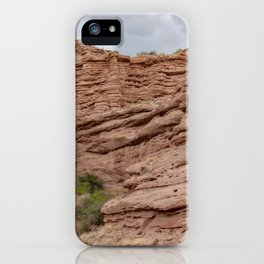 Unique rock formations in desert landscape at the San Lorenzo Canyon outside of Socorro, New Mexico, USA iPhone Case