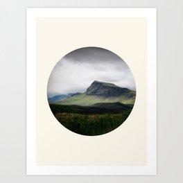 Cloudy Cliff Art Print