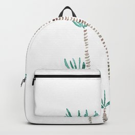 indoor palm tree watercolor Backpack