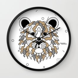 Tiger Chocolat Wall Clock