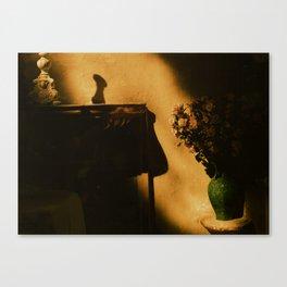 Eze golden light Canvas Print