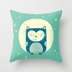 The Moon Owl Throw Pillow