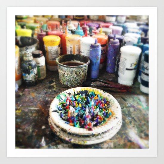 Plate of Colour Art Print