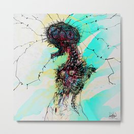 Ceres Brain Metal Print