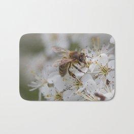 Bee on Cherry Blossom Bath Mat