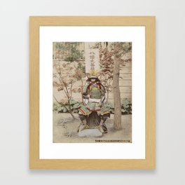 Japanese Warrior Vintage Photo Framed Art Print