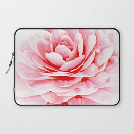 Watercolor Pink Camellia Laptop Sleeve