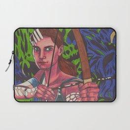 Lara on Fire Laptop Sleeve