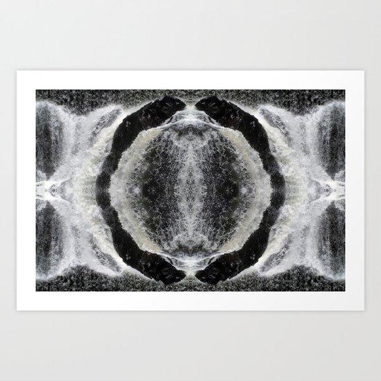 Waterfall Mandala Art Print