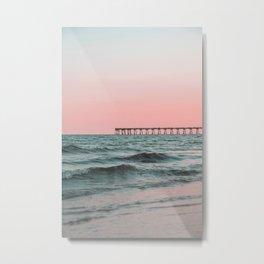 Pink Ocean Metal Print