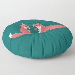 Fox Valentines Floor Pillow