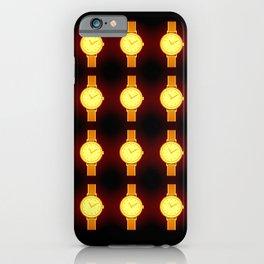 Luminous Wristwatches on Black Illustration iPhone Case