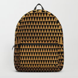 Modern Black and Gold Triangle Pattern Backpack