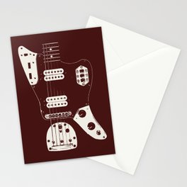 Offset Guitar Stationery Cards