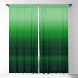 Emerald Green Stripe Design Blackout Curtain