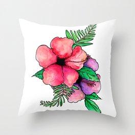 Tropical boquet Throw Pillow