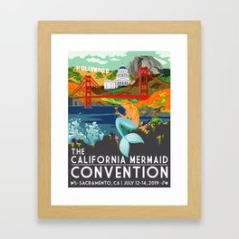 Poster Art ·•· California Mermaid Convention Framed Art Print