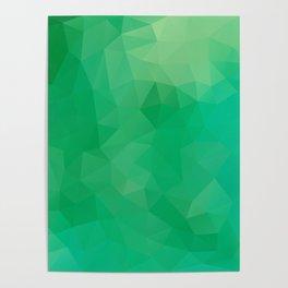"""Fresh spring grass"" geometric design Poster"